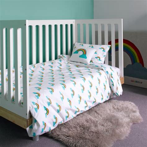 duvet sets for cot beds rainbow cot bed duvet set by lulu nat toddler bedding