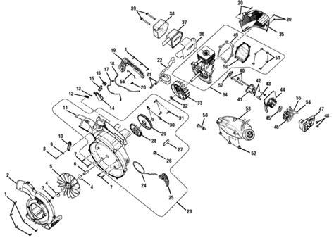 ryobi blower parts diagram ryobi ry09056 blower vacuum parts and accessories