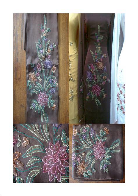 Bordir Selendang sulaman craft kain sulam bukit tinggi murah may 2011