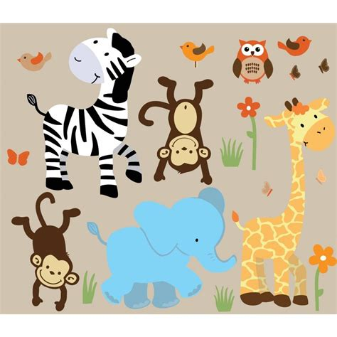 20 best collection of nursery animal wall