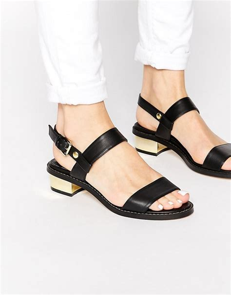 strapping together multiple pads asos asos fancify two strap sandals