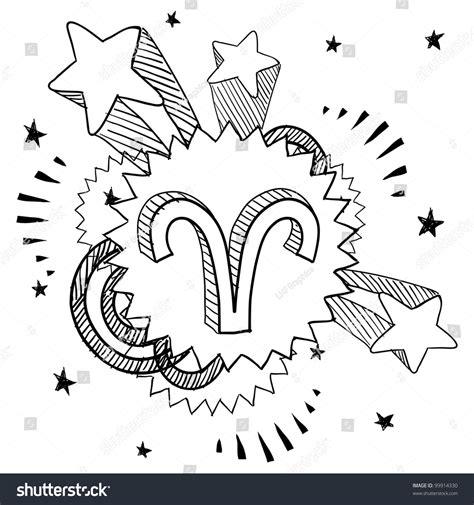 doodle zodiac doodle style zodiac astrology symbol on stock vector