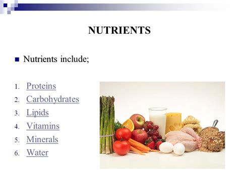 carbohydrates vitamins nutrients ppt