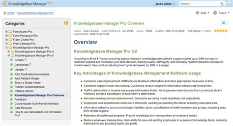 What S New In Knowledge Base Manager Pro V5 1 Knowledge Base Article Template