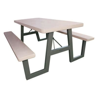 Lifetime Folding Picnic Table Lifetime 57 In X 72 In W Frame Folding Picnic Table 60030 The Home Depot