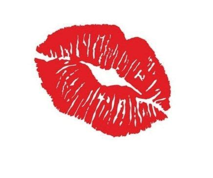 kiss lips tattoo vinyl wall decal kissy quote decals