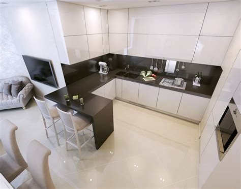 Modern Black And White Kitchen Designs 17 small kitchen design ideas designing idea