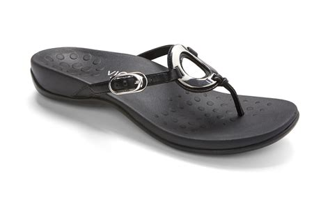 supportive sandals vionic orthaheel black jpg