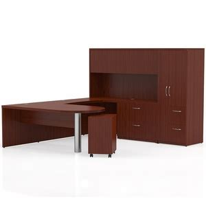 office furniture unlimited mayline aberdeen office desk set cherry at15lcr