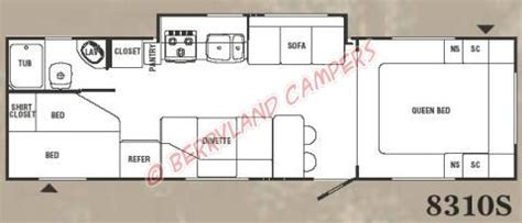 trail lite trailers floor plans 2006 trail lite 8310s travel trailer for sale stock no