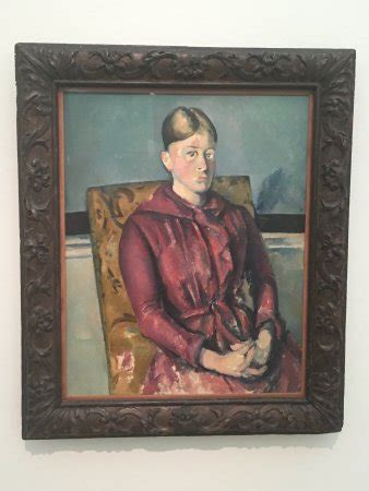 Madame Cezanne In A Armchair by Madame Cezanne In A Yellow Armchair Picture Of Fondation