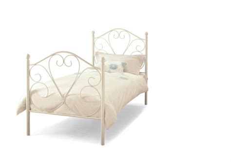 White Metal Single Bed Frame Serene Isabelle 3ft Single White Metal Bed Frame By Serene Furnishings