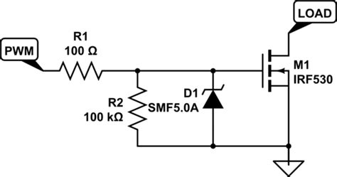 tvs diode circuit solenoid simple esd protection for mosfets electrical engineering stack exchange