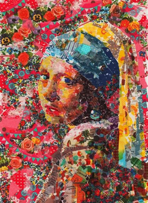 famous modern art famous paintings recreated with layers of masking tape