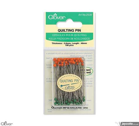 Clover Quilting Supplies by Clover 2508 Quilting Pins Pack Of 100 Jaycotts Co Uk