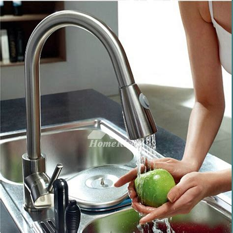 kitchen faucets stainless steel pull out polished nickel kitchen faucet gooseneck stainless steel
