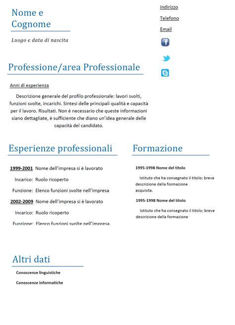 esempi di lettere personali curriculum vitae funzionale modello 02 modello curriculum