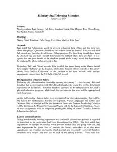 staff meeting minutes template best photos of sles of staff meeting minutes sle