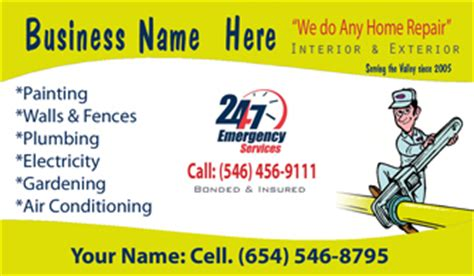 Cleaning Upholstery In Car Handyman Business Cards