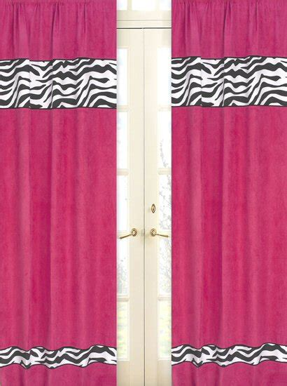 hot pink and black curtains hot pink black zebra print window curtains drapes set