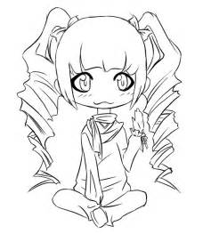 Cute Chibi Coloring Page Pictures sketch template