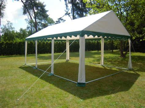 pavillon 4x6 partyzelt festzelt pavillon zelt 4x6 m pvc gr 252 n weiss ebay
