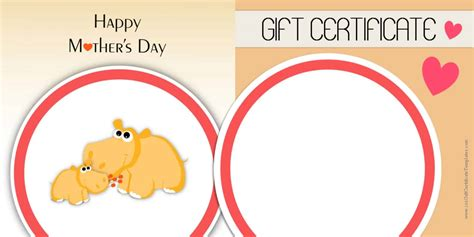 s day gift card template s day gift certificate templates