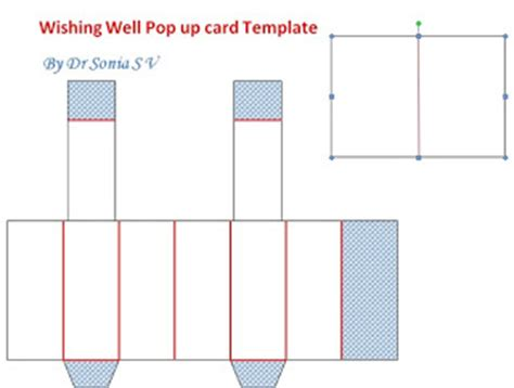 wishing well card template cards crafts projects wishing well pop up card and