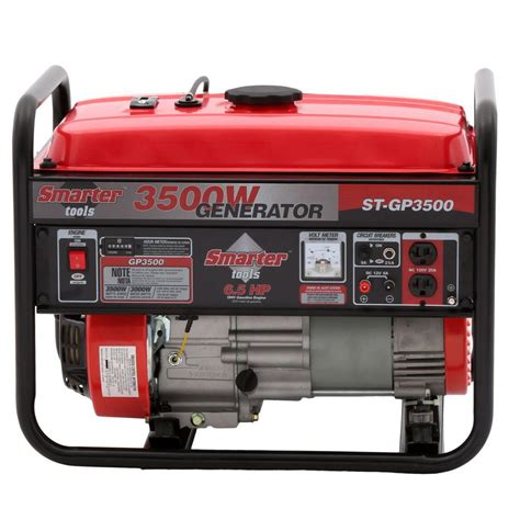smarter tools 3 500 watt gasoline powered portable