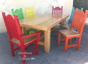 Mexican Kitchen Table Sunburst Mexican Style Dining Tables