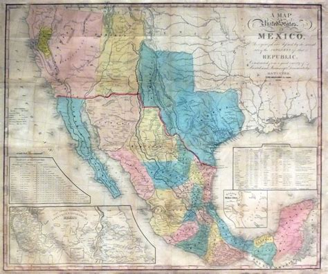 map of the united states and mexico a map of the united states mexico