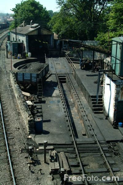 swanage engine shed  turntable pictures   image