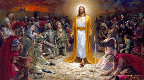 jesus christ soldiers praying   lord   sins