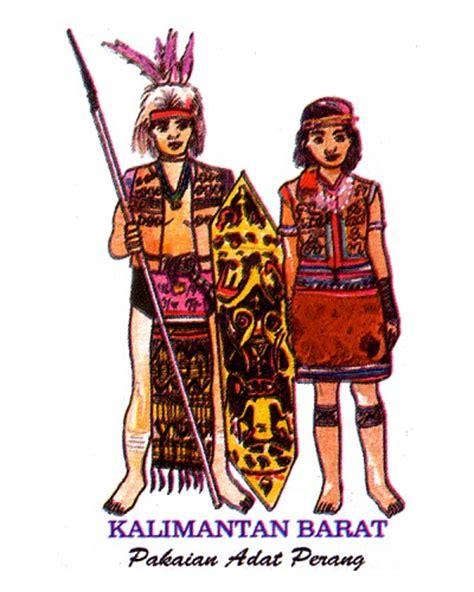 Baju Daerah Suku Dayak label stiker pakaian adat di indonesia