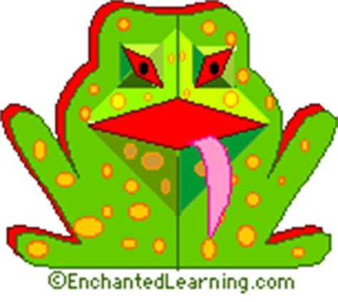 frog pop up card template frog enchanted learning invitations ideas