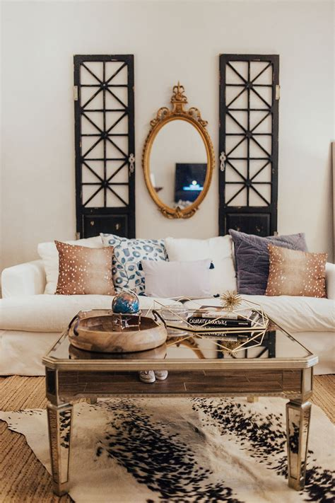 modern farmhouse meets french country living room