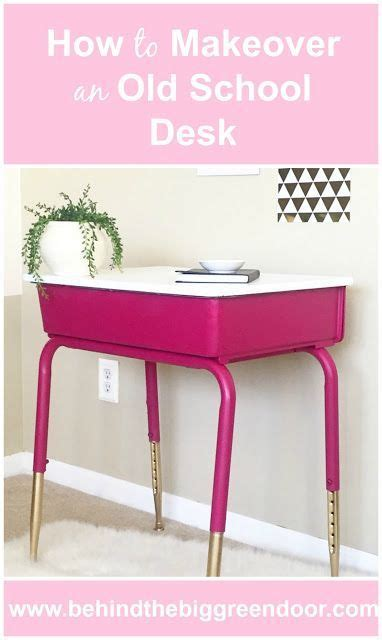diy school desk how to makeover an school desk the easy way using spray paint diy spraypaint