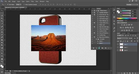 photoshop mobile photoshop script for 3d mobile phone cover