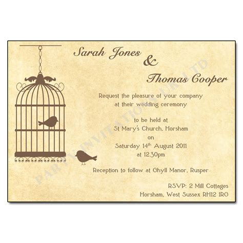 when to send wedding invites uk vintage birdcage wedding invitations buy now with free uk delivery