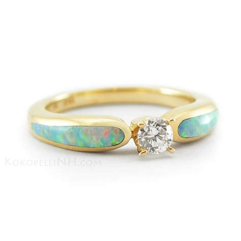 opal and engagement ring engagement rings