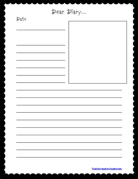 diary writing template ks1 image gallery diary template