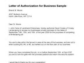 Letter Of Authorization Sample Letter Of Authorization