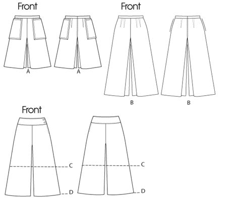 pattern review template butterick 5681 misses culottes