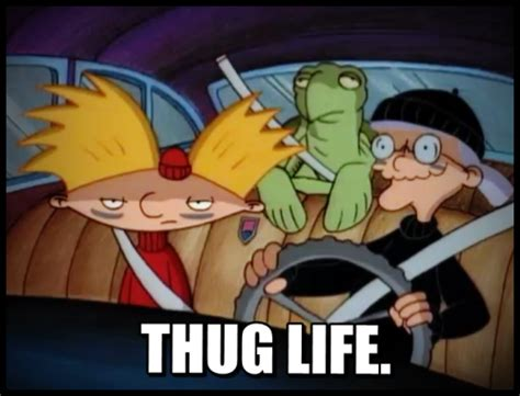 Hey Arnold Meme - hey arnold thug life lockjaw speedofwhiplash