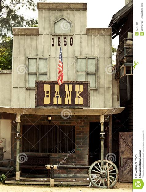 vecchio home banking bank in west stock image image of desert dust