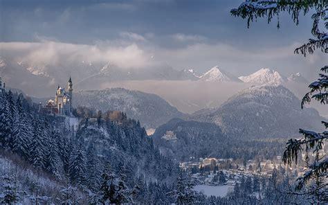imagenes de invierno en alemania neuschwanstein castle bavaria germany winter wallpaper