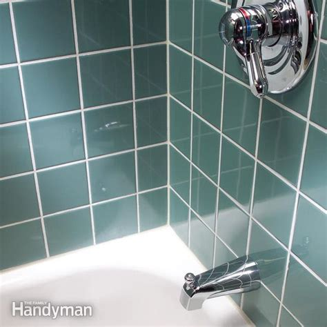 Regrouting Shower Tiles In Bathroom Regrout Wall Tile The Family Handyman