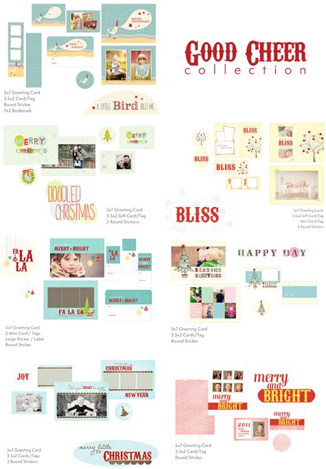 Photo Card Photoshop Templates by Photo Card Templates Whimsy And Cheer