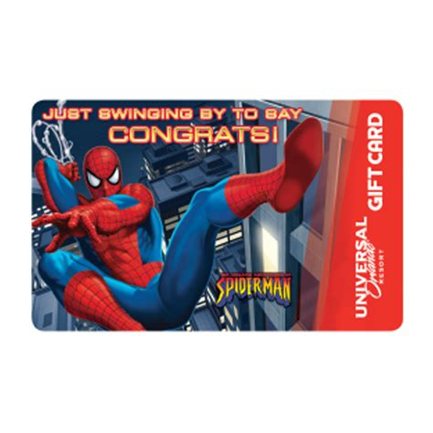 Gift Card Universal - your wdw store universal collectible gift card spider man congratulations
