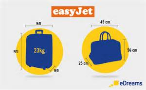 easyjet luggage and checked baggage allowances